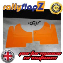 CLIO MK3 (2005-2012) ORANGE MUDFLAPS